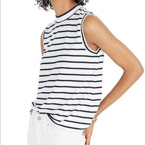 Madewell Striped Mock Neck Tank